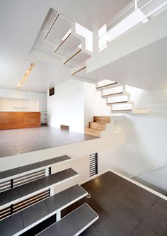 house in osaka ... loads of natural light, eight split levels each with 4 or 5 steps in between.