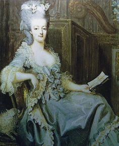 Marie Antoinette was given a fixed allowance of 120,000 Livres a year for clothes and accessories, a vast sum that was somehow never quite enough (she spent 258,000 Livres in one year), probably because at some point along the line, etiquette had decreed that eighteen pairs of pastel coloured gloves scented with violet, hyacinth or carnation and four new pairs of shoes had to be ordered for her on a weekly basis.