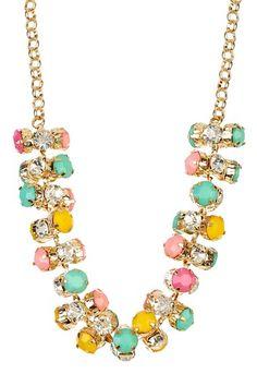 Pastel Cluster Necklace