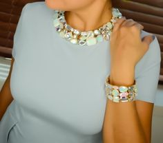 Rainbow Necklace and Rainbow Bracelet #TraciLynnStyle #TraciLynnJewelry