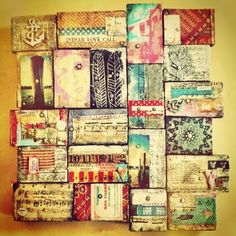 Karen Michel uses so many tiny details in each collage tile. I want to make a…