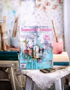 """Somerset Studio is an interactive, mixed-media journal that includes free clip art pages, artist paper tear-outs, and new """"playshops"""" for experimentation. Satisfy your mixed-media cravings with this can't-miss issue. Mixed Media Journal, Top Artists, Mixed Media Artists, Letter Art, Art Pages, Somerset, Creative Inspiration, Free Gifts, Cravings"""