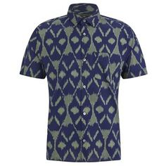 Marc by Marc Jacobs Men's Playa Printed Ikat Short Sleeve Shirt - Green: Image 01