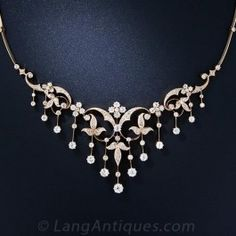 Antique Diamond Necklace - Victorian Jewelry - Shop for Jewelry