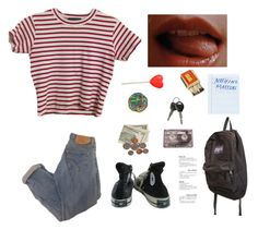 """Untitled #51"" by itskoda on Polyvore featuring Converse, CASSETTE, JanSport, Again and Moleskine"