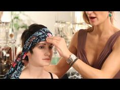 How to Wear Head Wraps With Short Hair : Short Hair Tips - YouTube