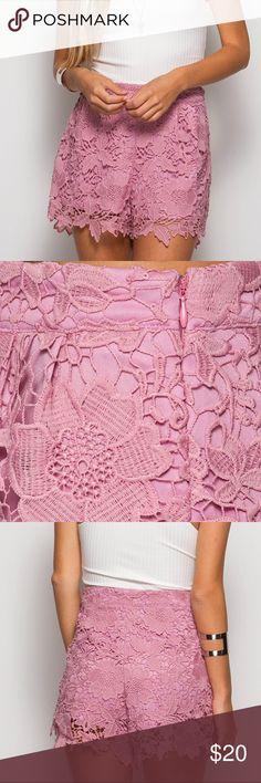 High waist crochet lace shorts High waist crochet lace shorts Shorts
