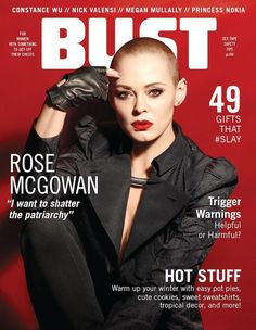 Our December/January cover featuring Rose McGowan.   Photo by Jill Greenberg.