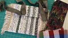 Making a rag rug bag. Strap woven on band loom. Karen Isenhower