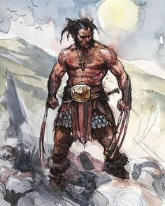 Viking Wolverine - art by Karl Kopinski Wolverine Comics, Logan Wolverine, Marvel Comics Art, Wolverine Tattoo, Hq Marvel, Marvel Comic Universe, Comics Universe, Marvel Heroes, Comic Book Characters