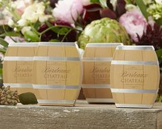 Wine Barrel Wedding Favor Boxes or Bridal Shower Favor Boxes (Set of Perfect for a Wine Theme Wedding or Wine Theme Bridal Shower by Gracefuleventfavors on Etsy Wine Barrel Wedding, Wedding Reception Favors, Rustic Wedding Favors, Wedding Favors Cheap, Wedding Favor Boxes, Bridal Shower Favors, Rustic Weddings, Wedding Bouquets, Wedding Decorations