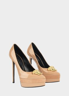 603be0c09438 Platform Palazzo Pumps from Versace Women s Collection. High heel