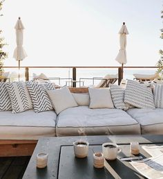 Don't be tempted to overspend when creating the perfect outdoor space. The large backyard landscaping ideas can get costly quickly if you're not careful. Outdoor Sofa, Outdoor Spaces, Outdoor Living, Outdoor Furniture, Outdoor Decor, Outdoor Couch Cushions, Hygge, Sofa Deals, Best Leather Sofa