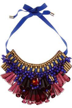 Matthew Williamson | Beaded bib necklace | NET-A-PORTER.COM