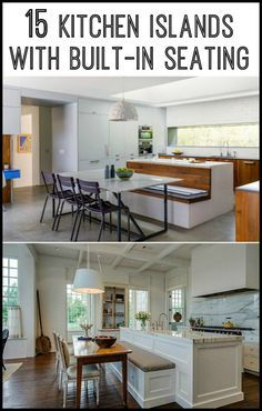 Do you want to have a kitchen island with built-in seating as a dining area at home?