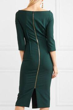Roland Mouret - Ardingly Crepe Midi Dress - Green