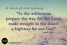 Prepare the way for the Lord!