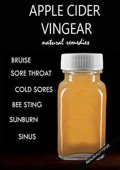 DIY Remedies using apple cider vinegar