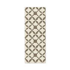 SPO Tile Wool Kilim Rug, Expedited Shipping, Mushroom, 2.5'x7'