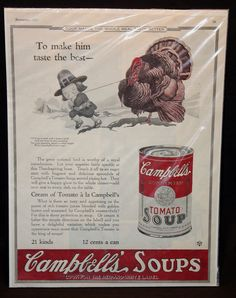 1923 Campbell's Soup Thanksgiving Ad by CraftedandCherished, $25.00