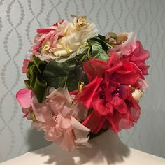 Pretty Silk Floral Vintage Ladies Hat by Fleur de Lis by PurpleIrisVintage on Etsy