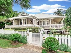 8 Waghorn Street Woodend Qld 4305 - House for Sale - realestate.com.au Queenslander House, Facade House, House Facades, Storybook Homes, Edwardian House, Colonial, Hamptons House, Australian Homes, House Goals