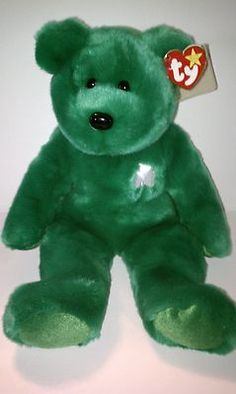 1998 Ty Beanie Buddy Erin Plush Teddy Bear