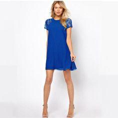 Short Sleeve Summer Mini Dress