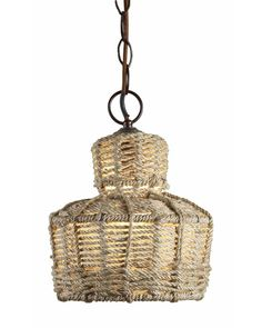 in love with rope accents for the home - this pendant is great!