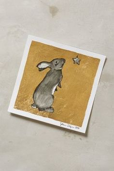 Sullivan Elaine Anlyan Gilded Bunny Print #anthroregistry