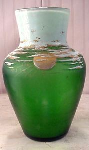 "$50,000.00 - Daum Nancy 81/2"" Cameo Glass Vase Dated 1895 Sunny Day"