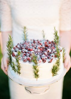 Rosemary sprigs and sugared cranberries