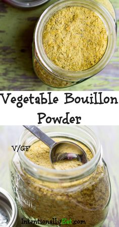 This vegetable bouillon powder adds incredible flavor to soups, stock and chowders, plus it is quick and easy to make. You can feel good about this healthy bouillon because it is free from chemicals and additives. Canning Recipes, Soup Recipes, Whole Food Recipes, Vegetarian Recipes, Freezer Recipes, Freezer Cooking, Drink Recipes, Homemade Spices, Homemade Seasonings