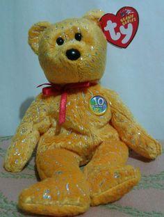 DECADE TY Beanie Babies Retired Bear 2003 Hang Tush PE Japan Asia Australia #Ty