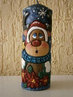 Christmas Art, Christmas Stockings, Art Decor, Decor Ideas, Home Decor, Carving, Candles, Holiday Decor, Painting