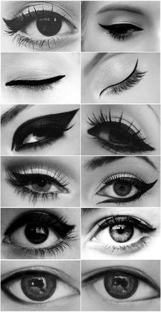 Several different eyeliner looks. Transform your eye.