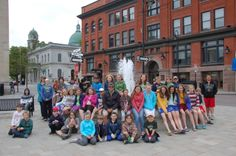Photo of the school children with Mr. Dale Baker, Garden Centre Manager, Canadian Tire Cataraqui.