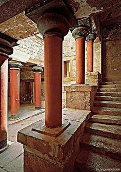 The minoan palace, Knossos, Heraklion, Crete island, Greece
