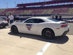 Laps of the Fontana oval in a pace car.