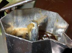 heating the moka pot