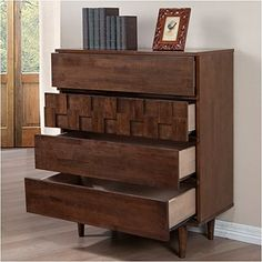 Devonshire 4 Drawer Chest Dresser, Made with Sturdy Rubberwood and Wood Veneers Bedroom Furniture Stores, Bedroom Dressers, Furniture Deals, Chest Dresser, Chest Of Drawers, Global Style, Wood Veneer, Home And Garden, Flooring