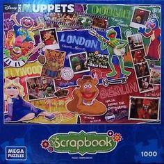 Mega Brands Disney Scrapbook Jigsaw Puzzle Muppets Most Wanted . Disney Jigsaw Puzzles, Muppets Most Wanted, The Muppet Show, Jim Henson, Disney Scrapbook, Toys, Ebay, Hobbies, Ideas