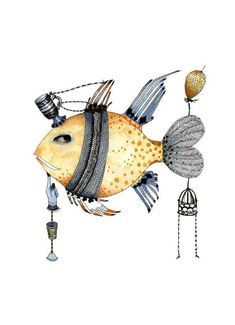 Fish Illustration Print 8x11 by ChasingtheCrayon on Etsy, £12.00