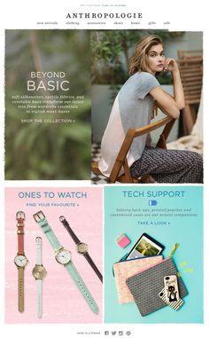 Anthropologie newsletter, email design www.datemailman.com