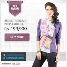 Warna ungu memberikan kesan feminine. Miliki koleksi cantik ini hanya di: www.bodytalk.co.id