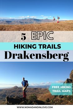 The best hikes in the Royal Natal National Park, Drakensberg listed from easiest to most challenging. Hiking Trail Maps, Hiking Tips, Zanzibar Beaches, Best Hikes, Day Hike, Africa Travel, Travel Couple, Outdoor Travel, Adventure Travel
