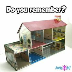 I loved this doll house! It used a magnet rod to move the dolls around the doll house. The dolls had a magnet in the bottom also. My Childhood Memories, Childhood Toys, Great Memories, Vintage Dollhouse, Vintage Dolls, Diy Dollhouse, Dollhouse Miniatures, Electronic Toys, Old Dolls