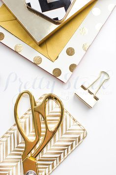 Styled Stock Photography | Gold & Black Styled Desktop with Polka dot details | Product Photography | Digital Image