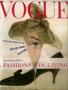 Vintage Vogue magazine covers - mylusciouslife.com - Vintage Vogue UK March 1958.jpg
