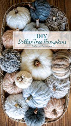 Easy Fall Crafts, Fall Diy, Holiday Crafts, Holiday Fun, Holiday Ideas, Diy Crafts, Dollar Tree Pumpkins, Dollar Tree Crafts, Modern Fall Decor